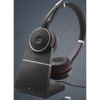 Jabra Evolve 75 MS Wireless Headset, Stereo – Includes Link 370 USB Adapter – Bluetooth Headset with World-Class Speakers, Active Noise-Cancelling Microphone, All Day Battery