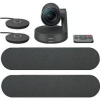 Logitech Rally Plus Video Conferencing Kit, With 2 x Rally Speakers, 2 x Microphone