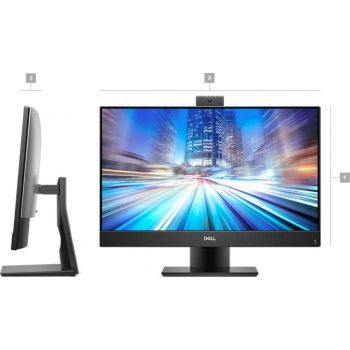 Dell OptiPlex 7470 Business All-in-One Touch PC (Intel® Core™ i7-9700 Processor, 8GB Memory, 1TB Hard Drive, Intel® Integrated Graphics, 23.8-inch Touch Display, WLAN + Bluetooth + Camera, Delll Wireless Keyboard + Mouse , Windows 10 Pro, Black)
