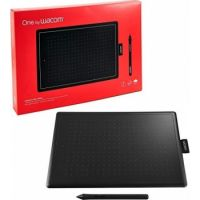 One By Wacom Digital Graphic Drawing Tablet Pad, Small - Black/Red   CTL-472-N