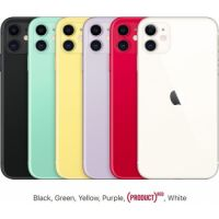 Apple iPhone 11 (2019): 6.1-inch, 4GB Memory, 256GB Memory, 12MP CAM, LTE > Black, White, Green, Yellow, Purple, Red