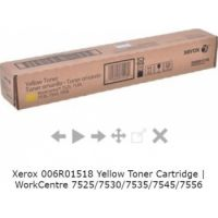 Xerox Yellow Toner Cartridge (Yield 15,000) for WorkCentre 7525/7530/7535/7545/7556 Xerox 006R01518 Yellow Toner Cartridge | WorkCentre 7525/7530/7535/7545/7556