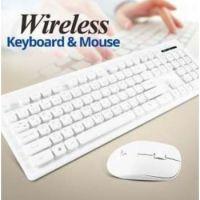 Genuine Wireless Desktop Keyboard Mouse Combo (White)