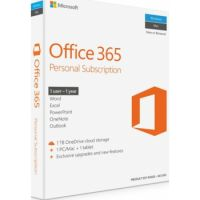 Microsoft Office 365 Personal Software, 1-year subscription with Online Product Key License