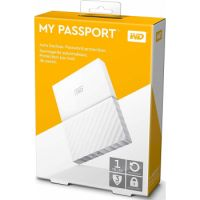WD 1TB My Passport Portable External Hard Drive - USB 3.0 (White Color)
