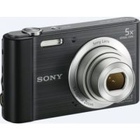 Sony DSC-W800 20.1 MP Point and Shoot Digital Camera with 5X Optical Zoom + Memory Card + Camera Case