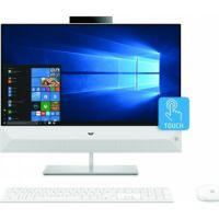 HP Pavilion All-in-One - 24-xa0009ne Touch Home PC (Intel® Core™ i7-9700T Processor, 16GB Memory, 1TB Hard Drive + 128GB SSD, 4GB Nvidia Graphic, 23.8-inch FHD Touch Display, WLAN + Bluetooth + Camera, Windows 10 Home, White)