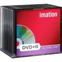 Imation DVD+R 16X 4.7GB 10PK slimline Jewel case