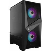 MSI MAG Force 100R Mid Tower With ARGB Fan Gaming Case, 240mm Radiator Compatibility - Black