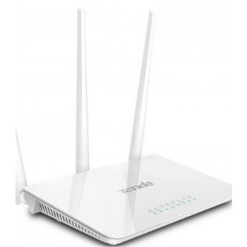 Tenda 300Mbps Wireless Router, with 3 Fixed Antenna, 3Lan, 1Wan Port F3
