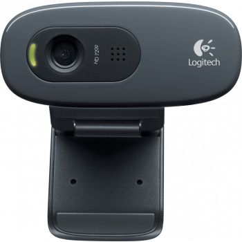 Logitech C270 HD Webcam, 720p Video with Built-in Mic