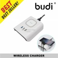 BUDI Wireless Charger 12W 3 Usb Port
