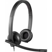 Logitech Headset Wired USB H570e Stereo with Noise-Cancelling Mic