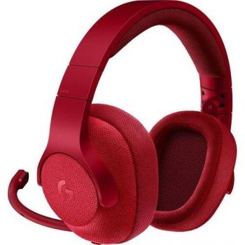 Logitech G433 7.1 Wired Surround Gaming Headset (Fire Red)