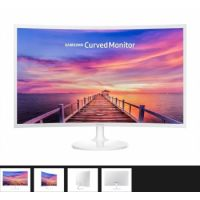 """Samsung 32"""" Curved Monitor-WHITE"""