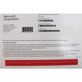 Windows 10 Pro Original Licence, 64-Bit English, OEM