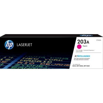 Genuine HP 203A Magenta Toner Cartridge (1,300 Pages) for HP Color LaserJet Pro M254, Color LaserJet Pro MFP M280, Color LaserJet Pro MFP M281 Printers