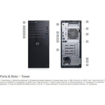 Dell OptiPlex 3070 MT (Core i5-9500/4GB/1TB/Intel UHD 630/DVD RW/Kb/Mouse/260W/Ubuntu)