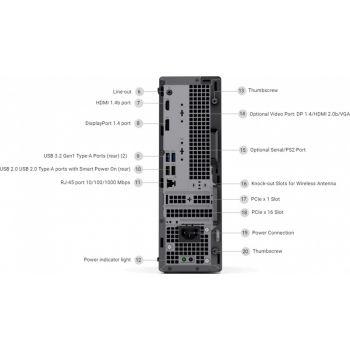 DELL OptiPlex 3080 Mini Tower Business PC (Intel Core i5-10500  Processor, 4GB DDR4 Memory, 1TB SATA Hard Disk Drive, DVD+/-RW, USB Keyboard - Arabic + USB Mouse, Ubuntu Linux 18.04, 1Yr Basic Warranty - Next Business Day)