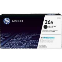 Genuine HP 26A Black Toner Cartridge (3,100 Pages)