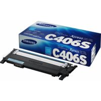 Samsung CLT-C406S Cyan Toner Cartridge (1,000 Pages)