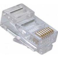 D-Net RJ45 Network Connector UTP Plug Gold Plating 03MU Cat6 Modular Jack (100pcs)