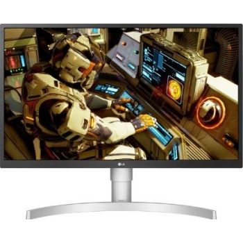 """LG 27"""" Class 4K UHD IPS LED HDR Monitor with Ergonomic Stand (27"""" Diagonal) - White Color"""