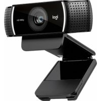 Logitech C922 Pro Stream Full HD Webcam with Mic and Adjustable Tripod - Black-USB